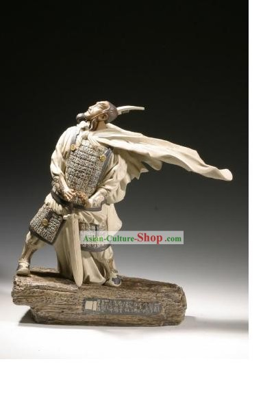 Chinese Classic Shiwan Ceramics Statue Arts Collection - Cao Cao 1