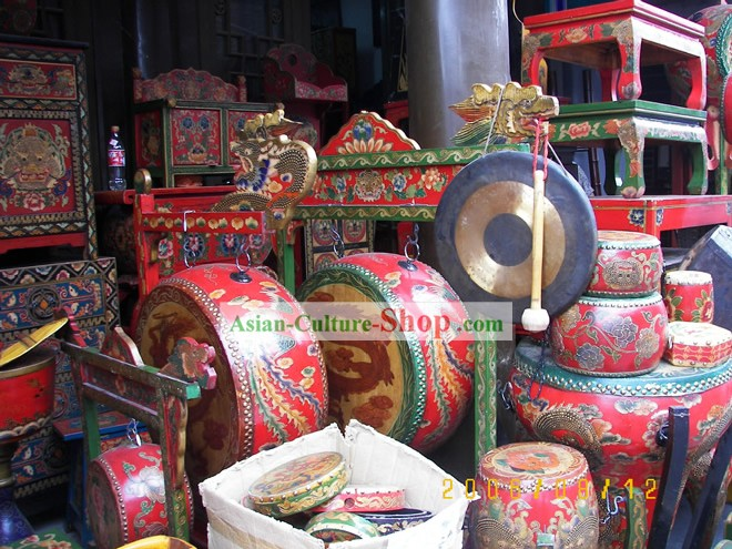 Gorgeous Lion and Dragon Dance Drums of Varies Sizes