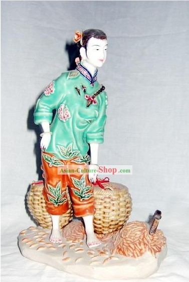 Chinese Classical Shiwan Statue - Harvest