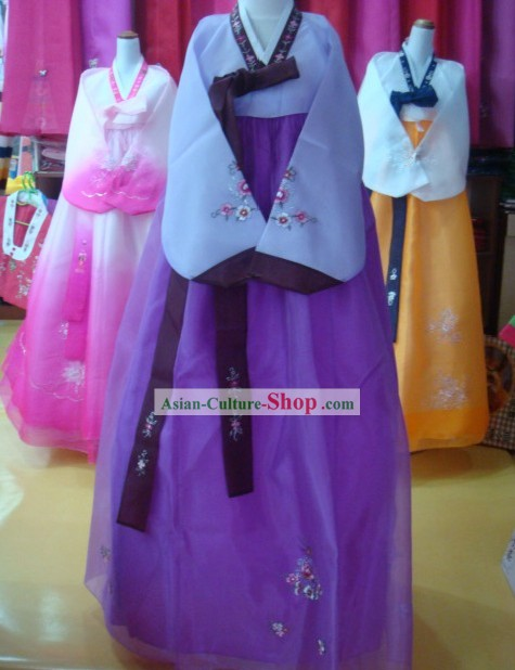 Traditional Korean Hanbok Complete Set for Women (purple)
