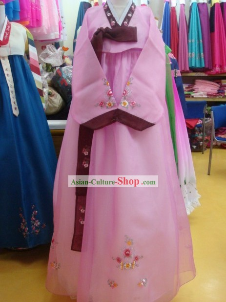 Korean Classic 100 Percent Handmade Korean Hanbok for Woman-Most Beautiful Bride