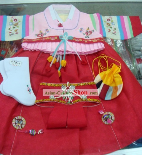 Korean Traditional Handmade Hanbok for Children
