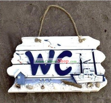 WC Wooden Seaside Scene Board - Christmas and New Year Gift