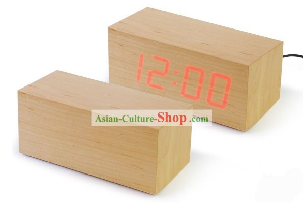 Mysterious Wood LED Clock - Christmas and New Year Gift
