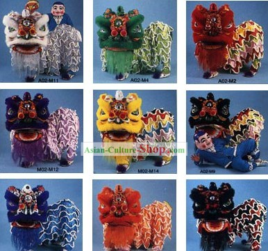 Traditional Chinese Southern Lion Dance Costumes Complete Set (10 Colors Available)