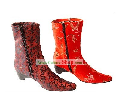 Chinese Traditional Handmade Cotton Long Winter Boots