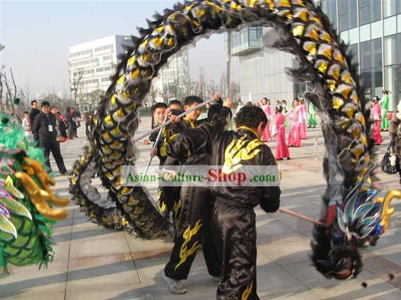 Chinese Classic Net Dragon Head Costume Complete Set for Five People
