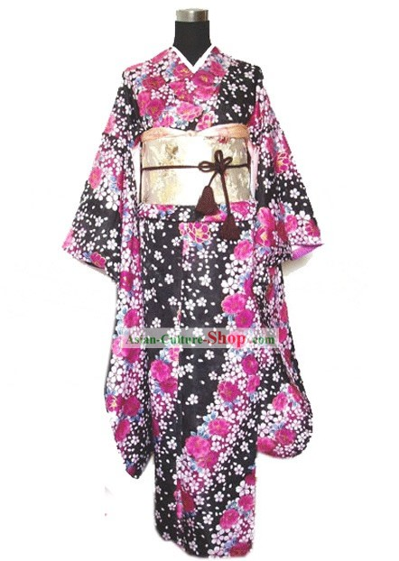 Japanese Traditional Kimono Dress - Flower