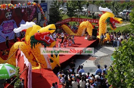 198 Inches Height Celebration Inflatable Dragon
