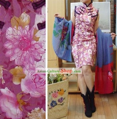 Supreme Chinese Traditional Handmade Flowry Warm Winter Cheongsam (Qipao)