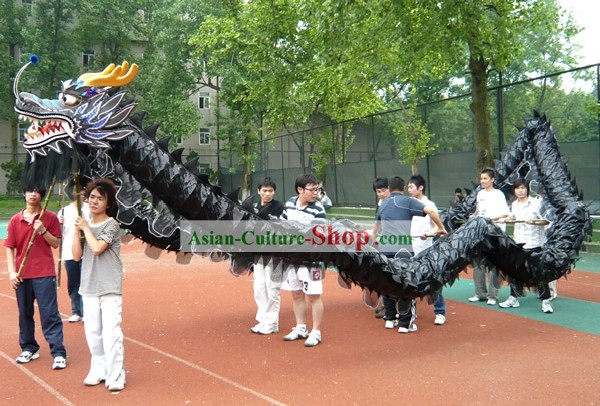 Chinese Classic Shinning Dragon Dance Equipments Complete Set (black)