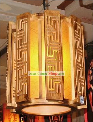 Chinese Antique Style Wooden Ceiling Palace Lantern