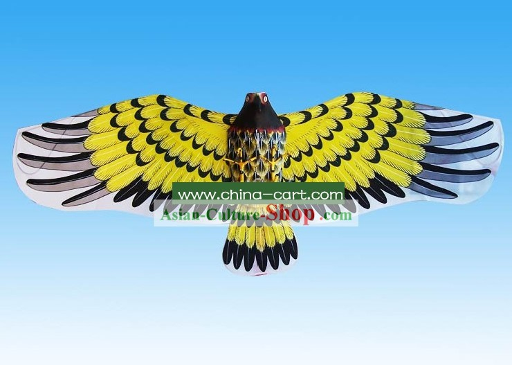 Chinese Traditional Weifang Hand Made Kite - Yellow Eagle