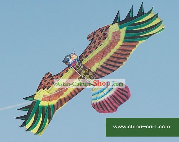 Chinese Traditional Weifang Hand Painted and Made Kite - Eage Owl