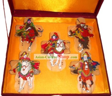 Chinese Classical Hand Painted and Made 5 Kite - Five Generals
