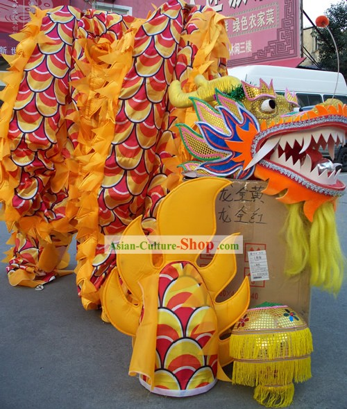 Competition and Parade Children Dragon Dance Costume Complete Set