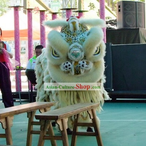 Supreme Long Sheep Wool Chinese Traditional Southern Lion Dance Equipments Complete Set