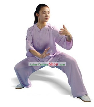 Chinese Professional Martial Arts and Tai Chi Suit (purple)