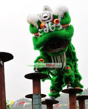Competition and Parade Southern Lion Dance Costumes Complete Set