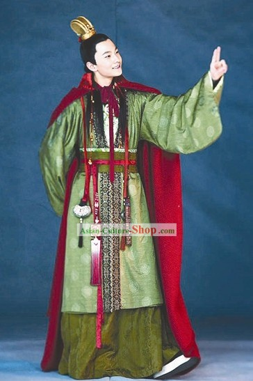 Chinese Classic Jia Baoyu Costumes and Hat