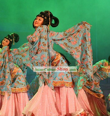 Ancient Chinese Palace Dance Costumes Complete Set