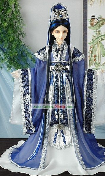 Chinese Ancient Prince Men Costumes Complete Set