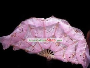 Chinese Traditional Large Palace Dance Pink Fan