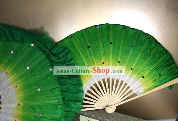 Supreme Chinese Silk Hands Fan with Sequin