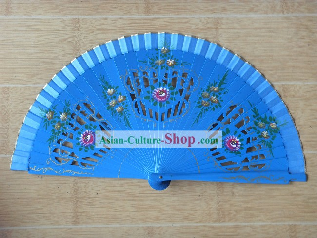 9 Inch Hand Made and Painted Dance fan