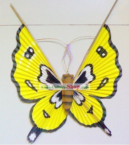 Chinese Handmade Craft Butterfly Fan