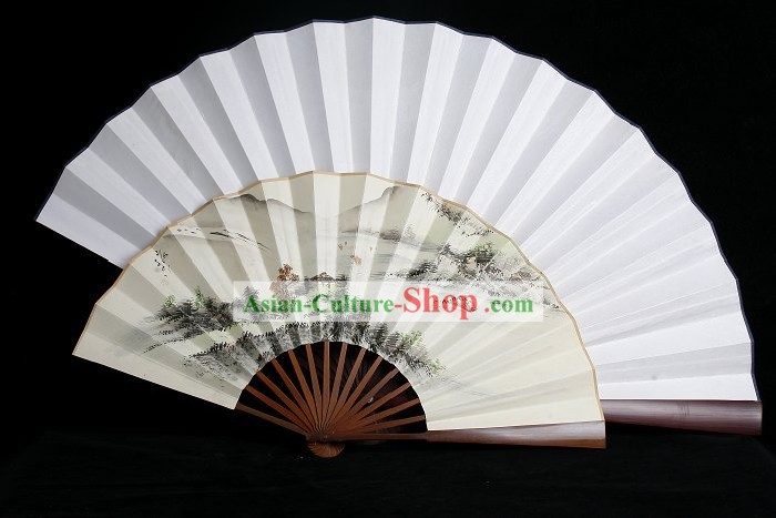 Handmade Large White Wall Fan