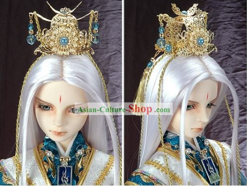 China Ancient Emperor Clothing and Hair Decoration Full Set