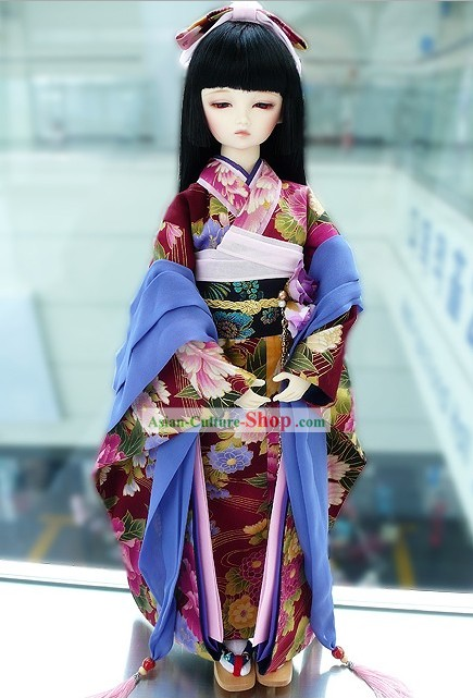 Japan Traditional Costumes Complete Set for Girls
