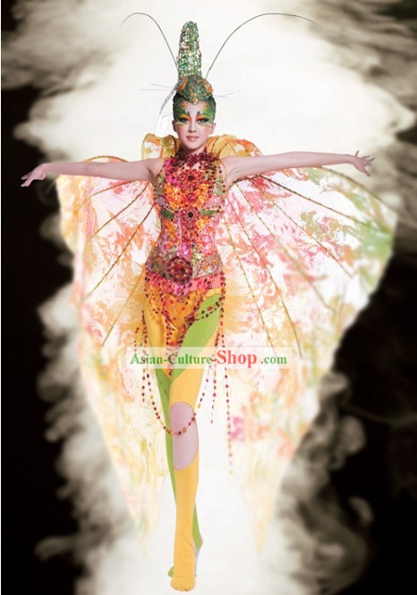 Chinese Rainbow Modern Dance Costume