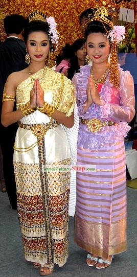 Thailand Traditional Clothing Complete Set
