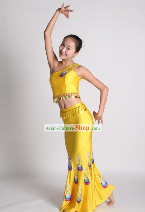Traditional Thai Peacock Dance Costume Complete Set