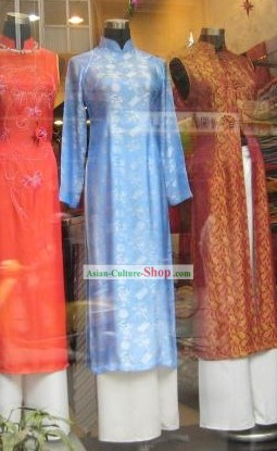 Classic Viet Blue Ladies Costume Complete Set