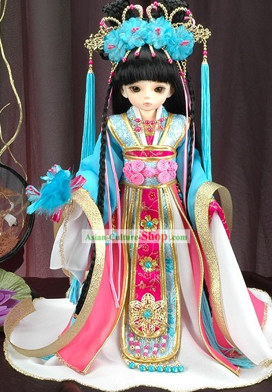 China Ancient Princess Costume and Hair Accessories for Kids