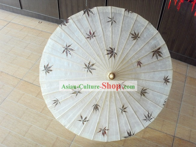 Chinese Traditional Hand Made Maple Leaf Dance Umbrella