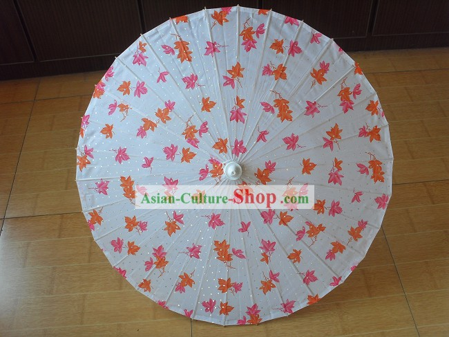 Chinese Hand Made Flower Dance Umbrella