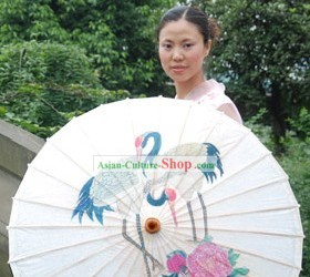 Chinese Traditional Hand Made Crane Umbrella