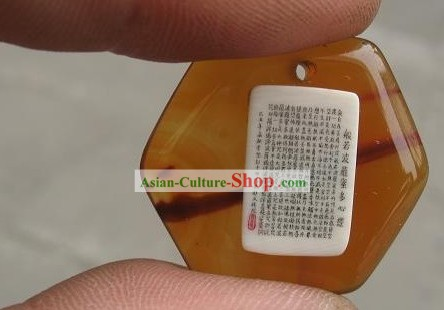 Chinese Microscopic Carving Ivory Sculpture - Buddha Words Jewelry