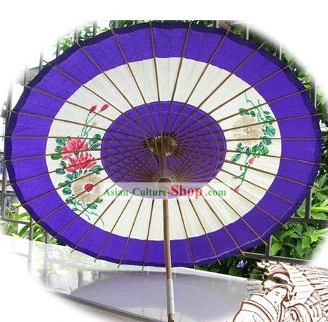 Large Hand Made Japanese Peony Paper Umbrella