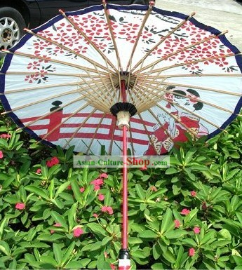 Hand Made Japanese Girls Dance Umbrella
