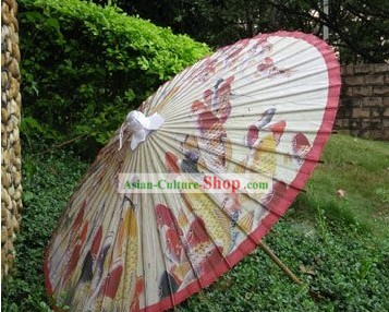 Hand Made Japanese Hundreds Fishes Paper Umbrella