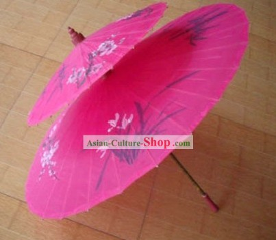 Chinese Hand Made and Painted Two-Layers Silk Wedding Romantic Umbrellas/Parasols 1