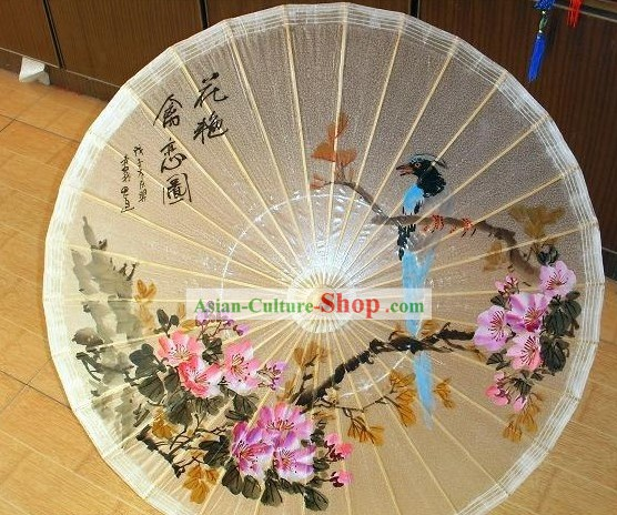 Chinese Classic Transparent Hand Painted Umbrella