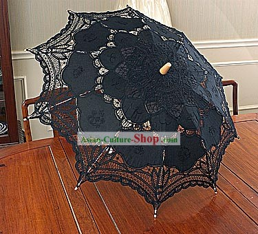 Hand Made Black Lace Umbrella