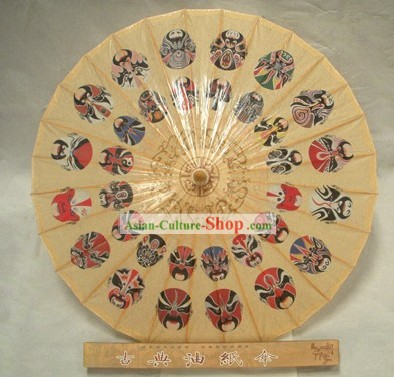 Chinese Hand Made Beijing Opera Masks Umbrellas