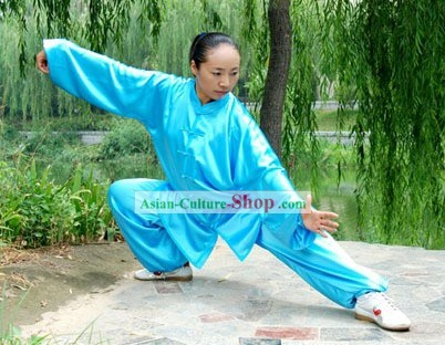 Chinese Traditional 100% Silk Performance Mandarin Uniform for Women